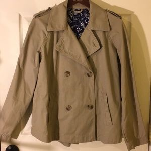 Gap khaki lightweight jacket